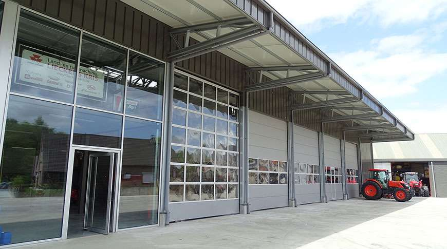 showroom industrial steel building