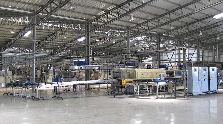 production halls steel industrial buildings PEB