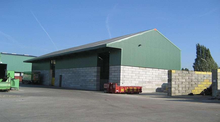bulk storage building brick walls