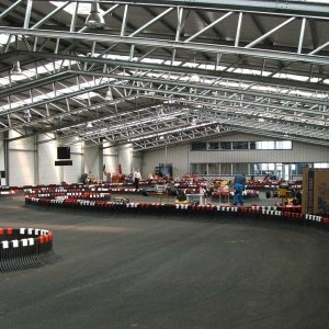 Indoor-Karting-Strecke